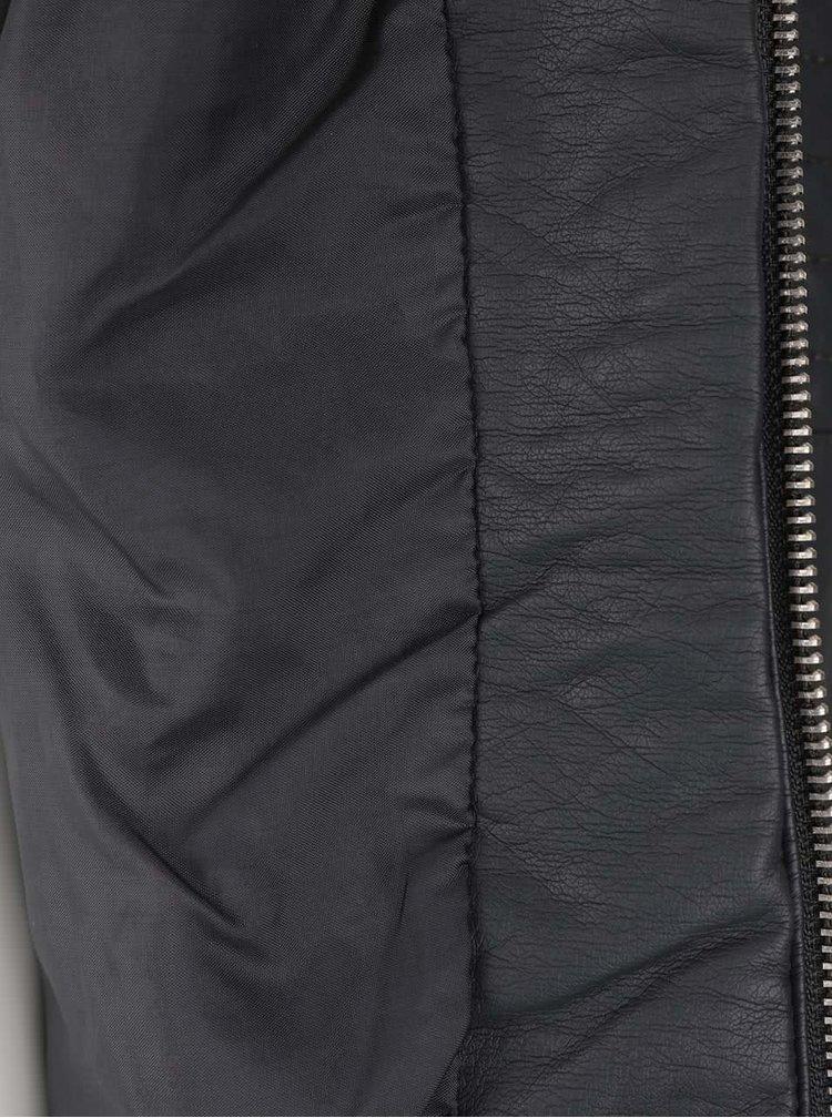 Jachetă gri închis ONLY New Start din piele sintetică