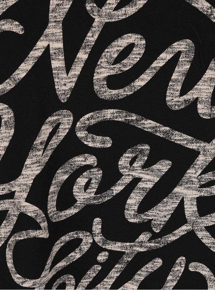 Čierne tričko s potlačou Burton Menswear London