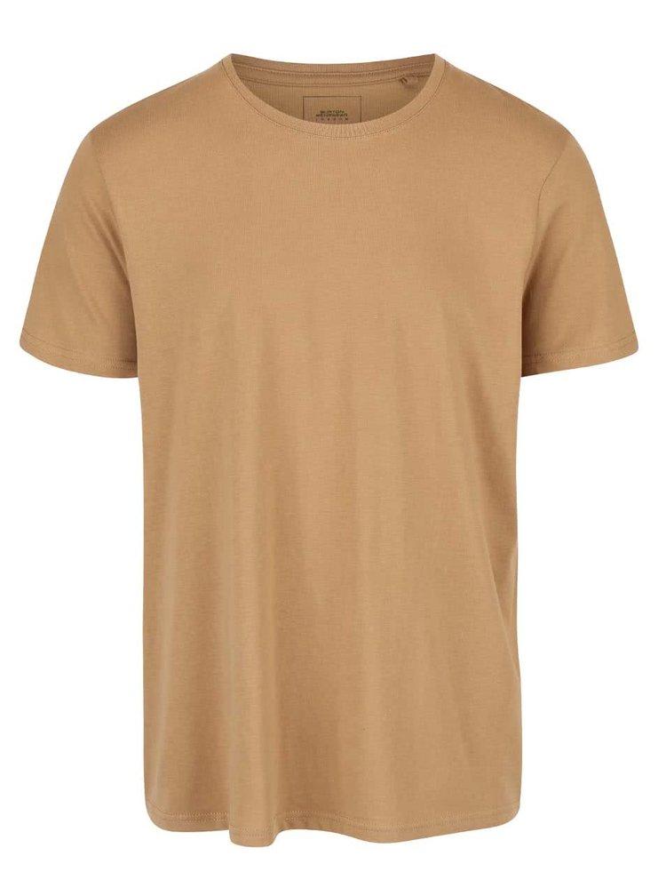Tricou maro deschis Burton Menswear London din bumbac