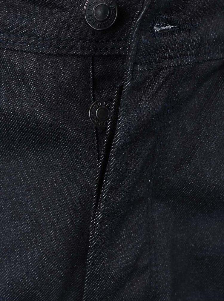 Tmavě modré vyšisované slim džíny Burton Menswear London