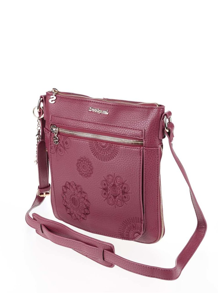 Geanta visinie crossbody Desigual Moscue cu model