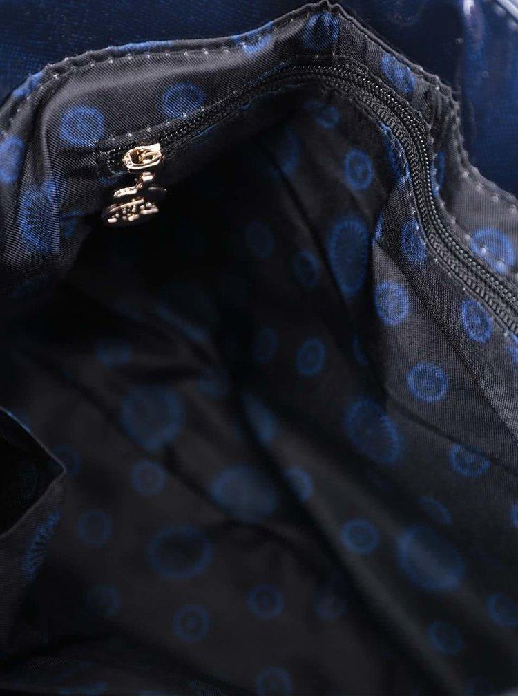 Modrá lesklá crossbody kabelka Desigual Varsovia Katia