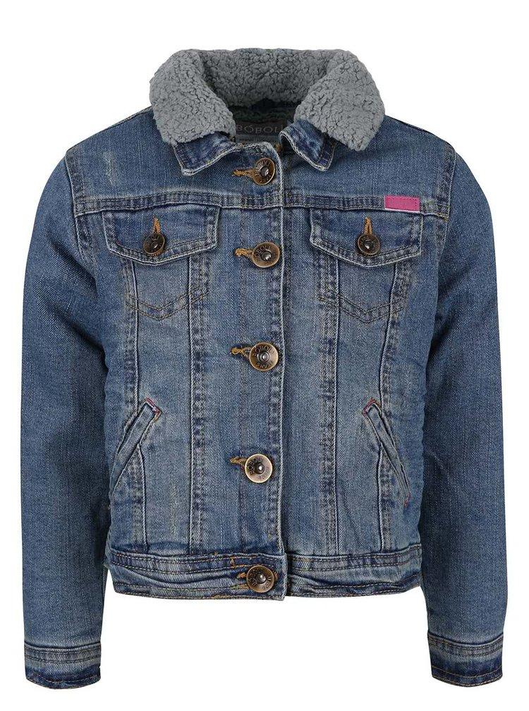 Jacheta din denim cu guler detasabil Boboli pentru fete