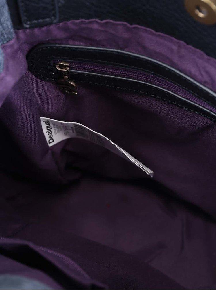 Modrá džínová kabelka se střapci Desigual Ethnic Deluxe