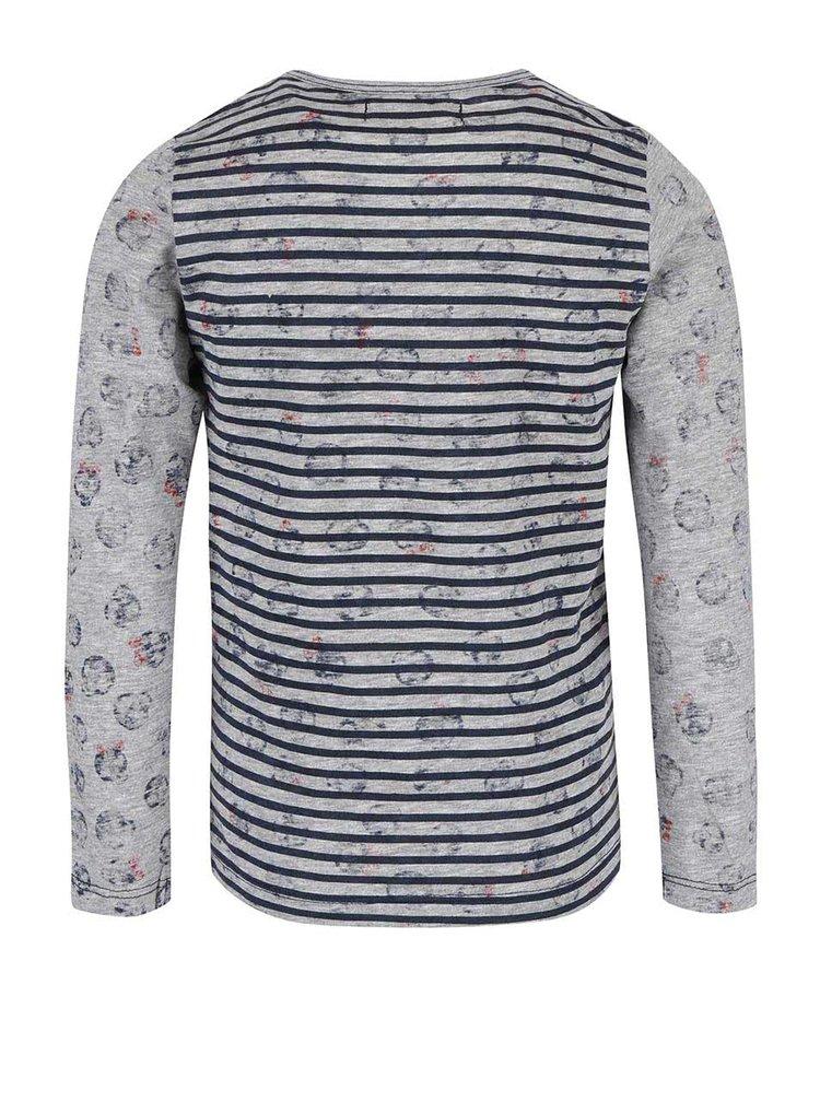 Bluză gri cu model în dungi Boboli pentru fete