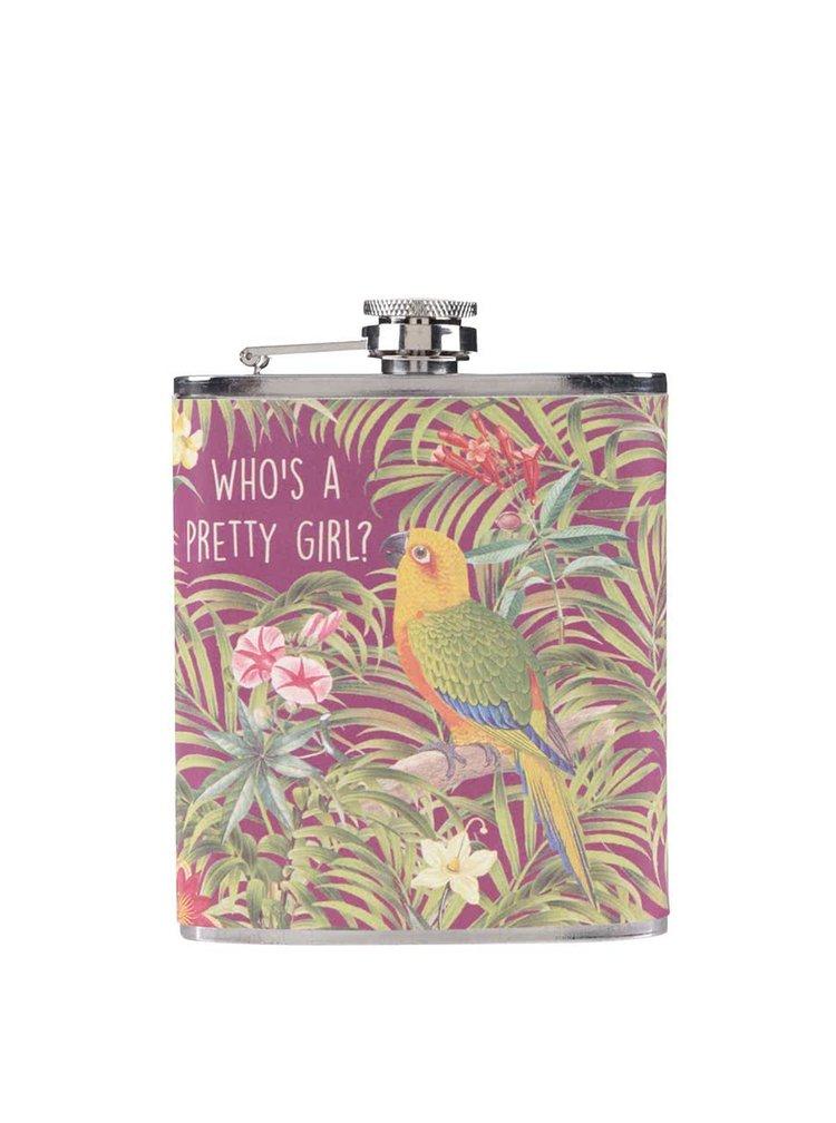 Vínová ploskačka s papagájom Sass & Belle Who´s A Pretty Girl
