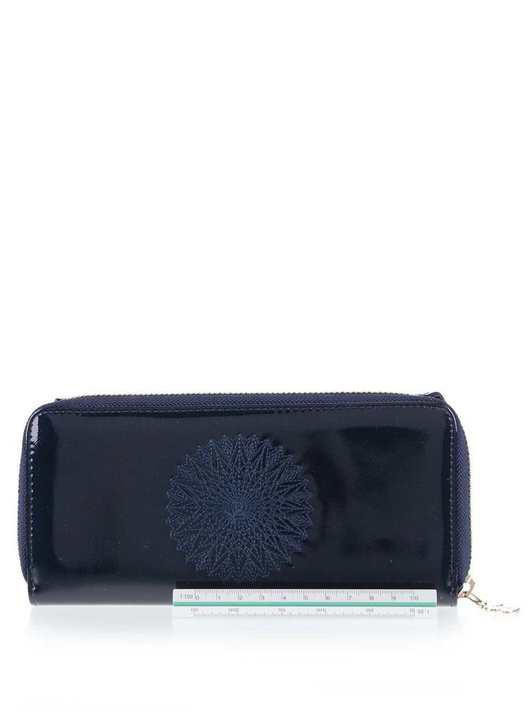Modrá lesklá peněženka Desigual Maria Katia