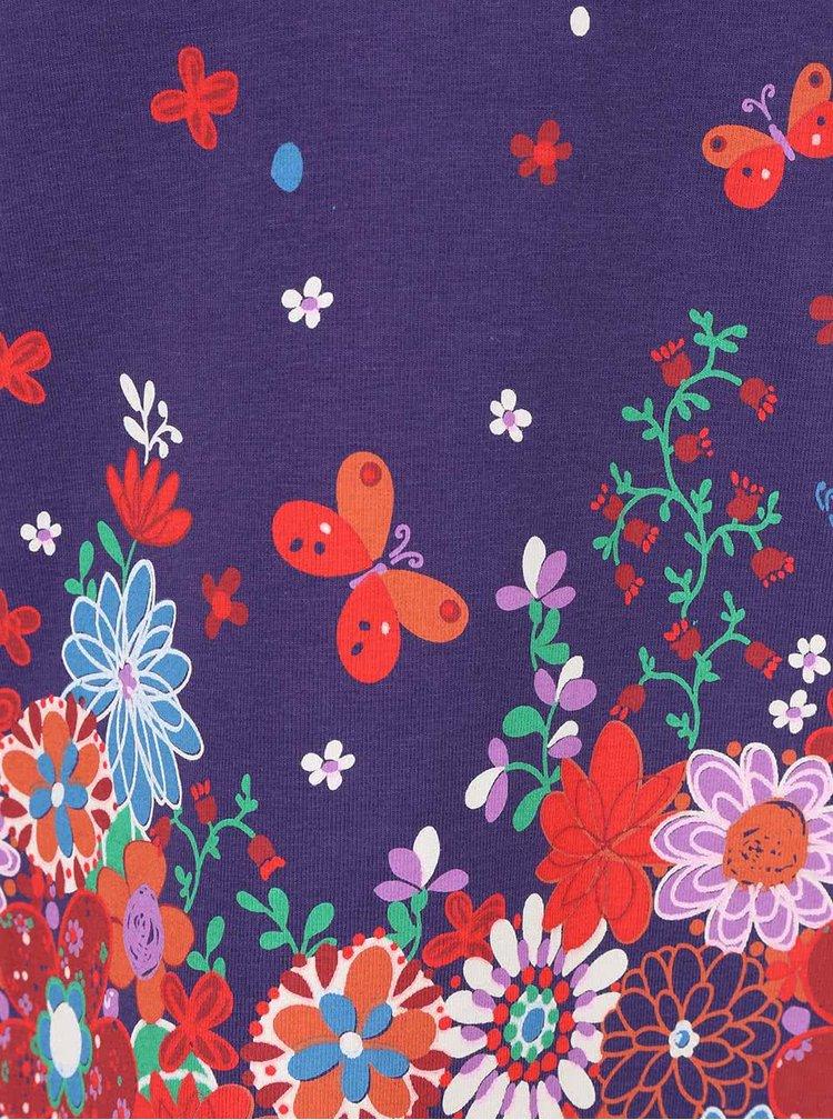 Rochie violet  cu model floral Boboli pentru fete