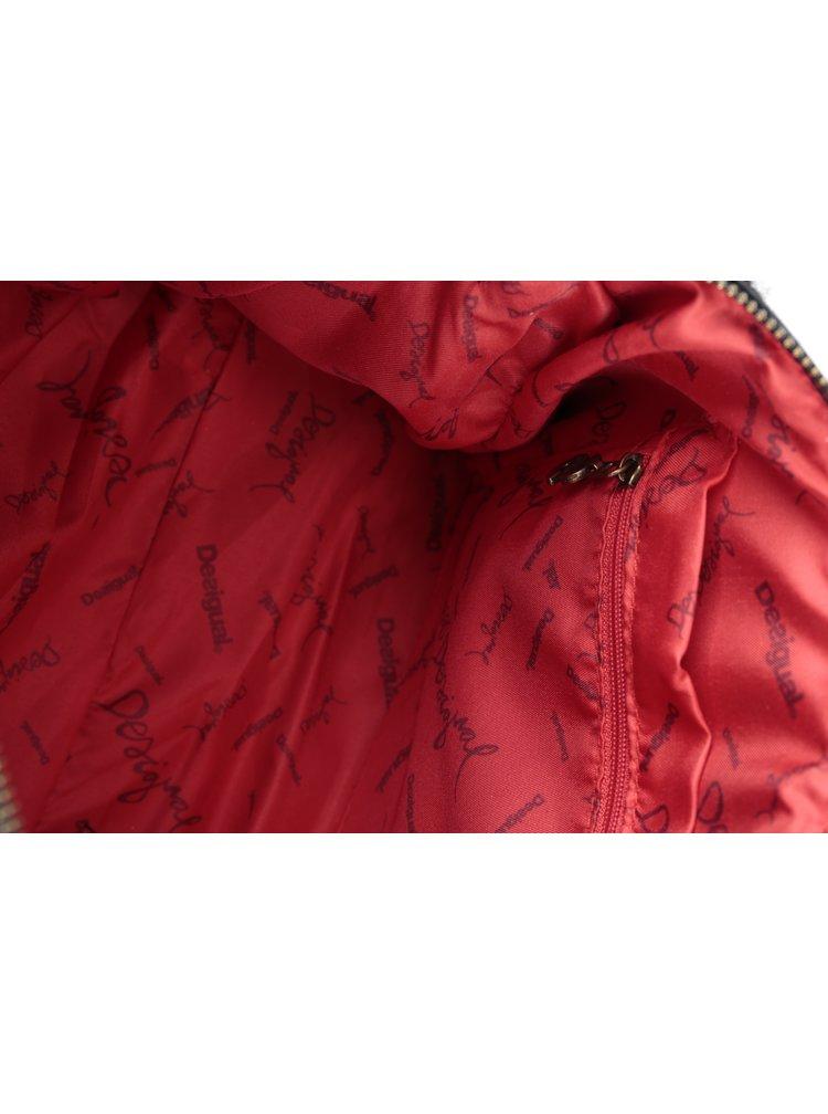 Šedo-černo-červená vzorovaná kabelka Desigual Dublin Norway
