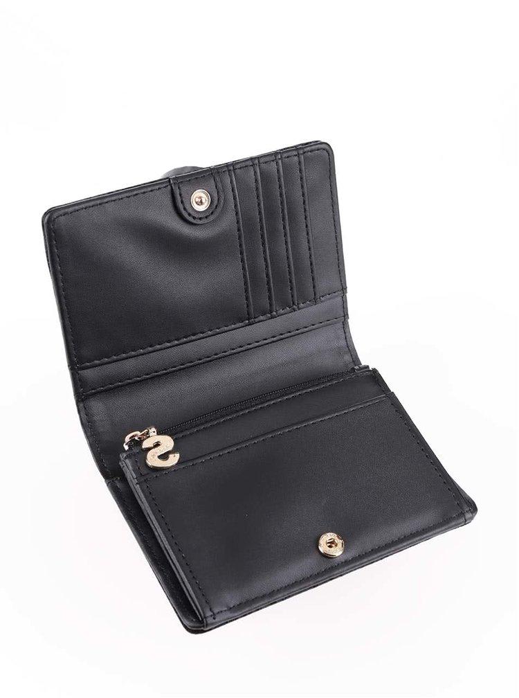 Čierna peňaženka v semišovej úprave Desigual Simple Velvet
