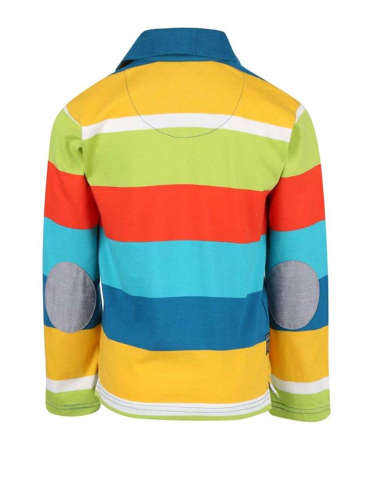 Farebné pruhované chlapčenské tričko Bóboli