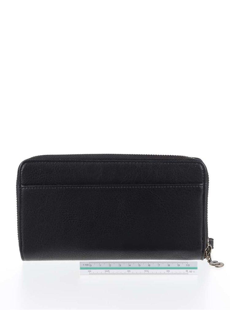 Černá peněženka s barevnými vzory Desigual Indiana
