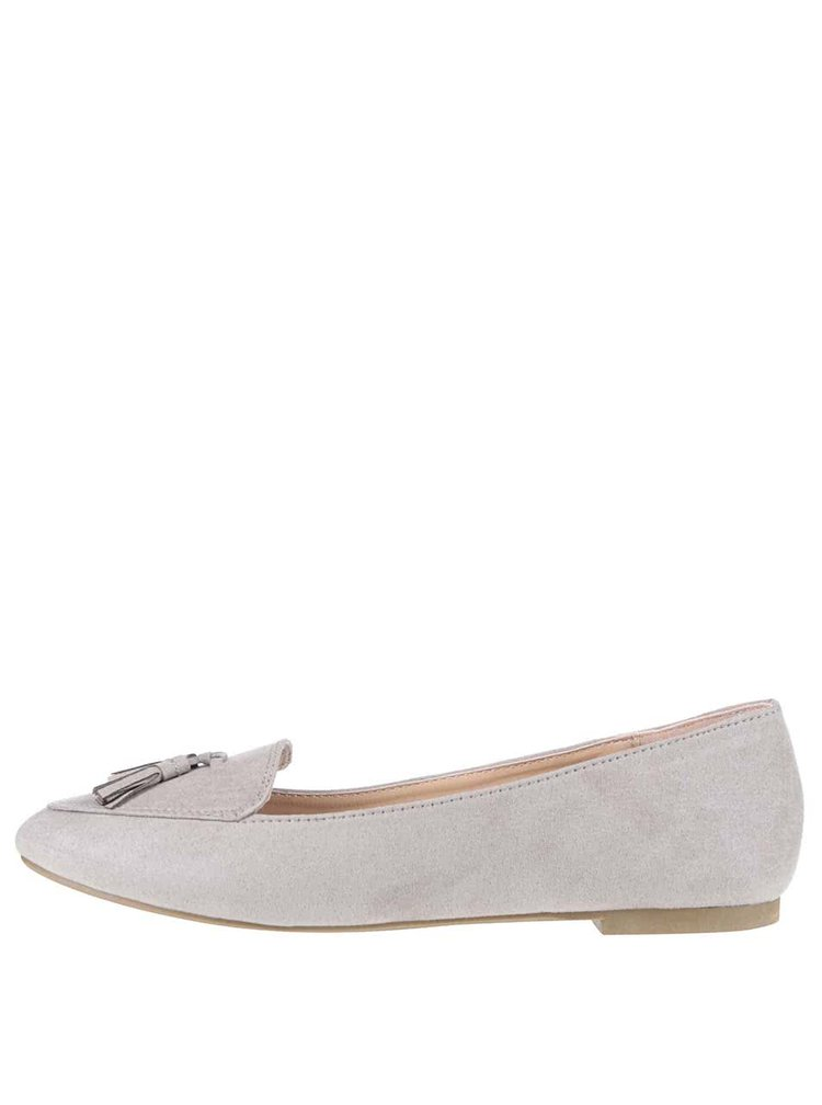 Pantofi loafer gri Dorothy Perkins