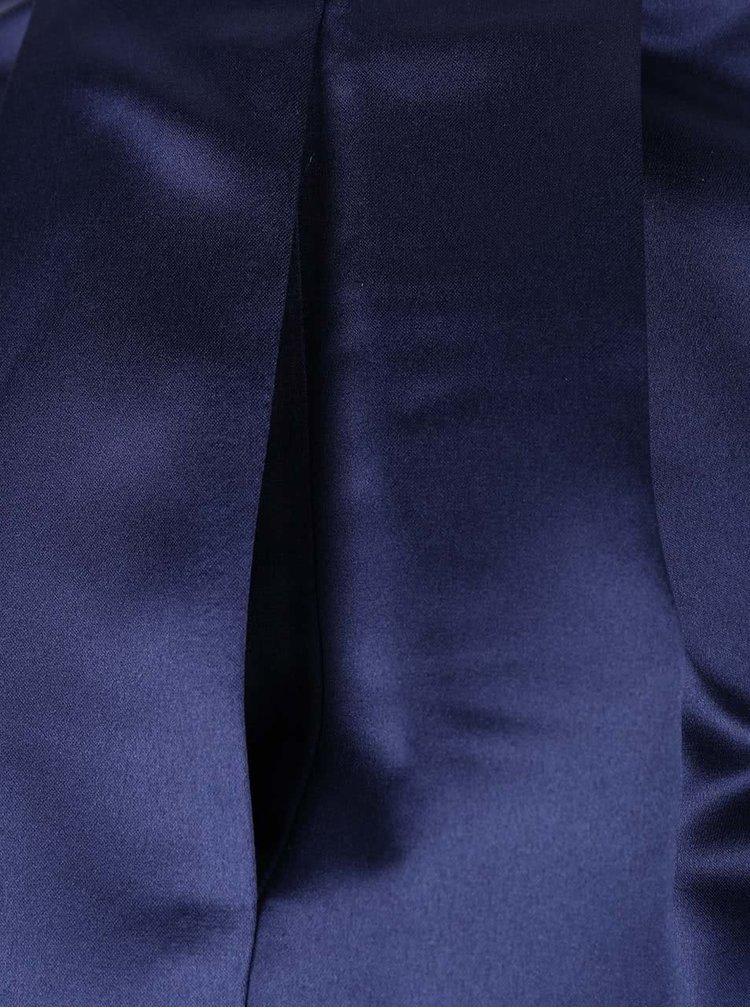 Tmavě modrá lesklá midi sukně Closet