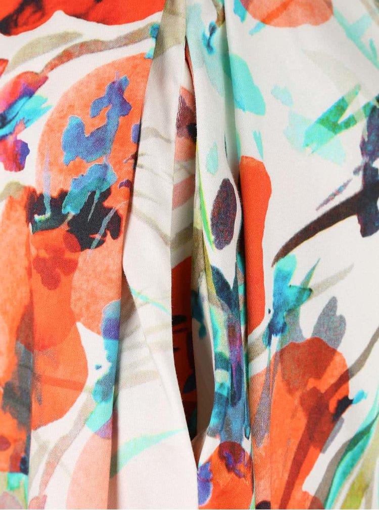 Krémová sukně s vlčími máky Closet
