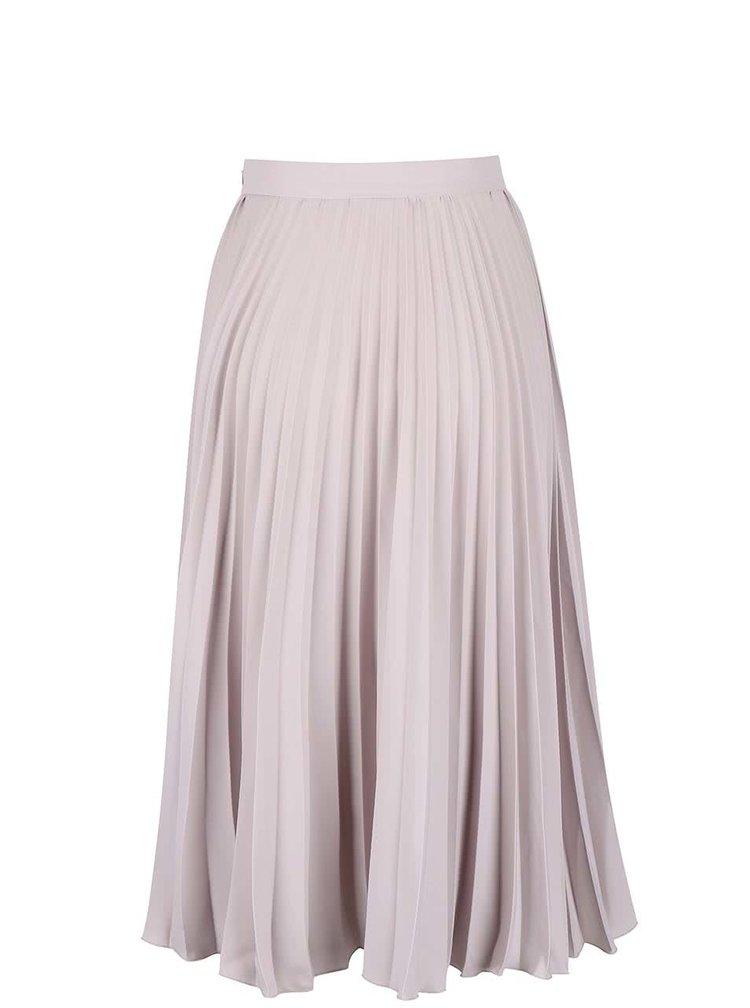 Světle šedá plisovaná midi sukně Closet