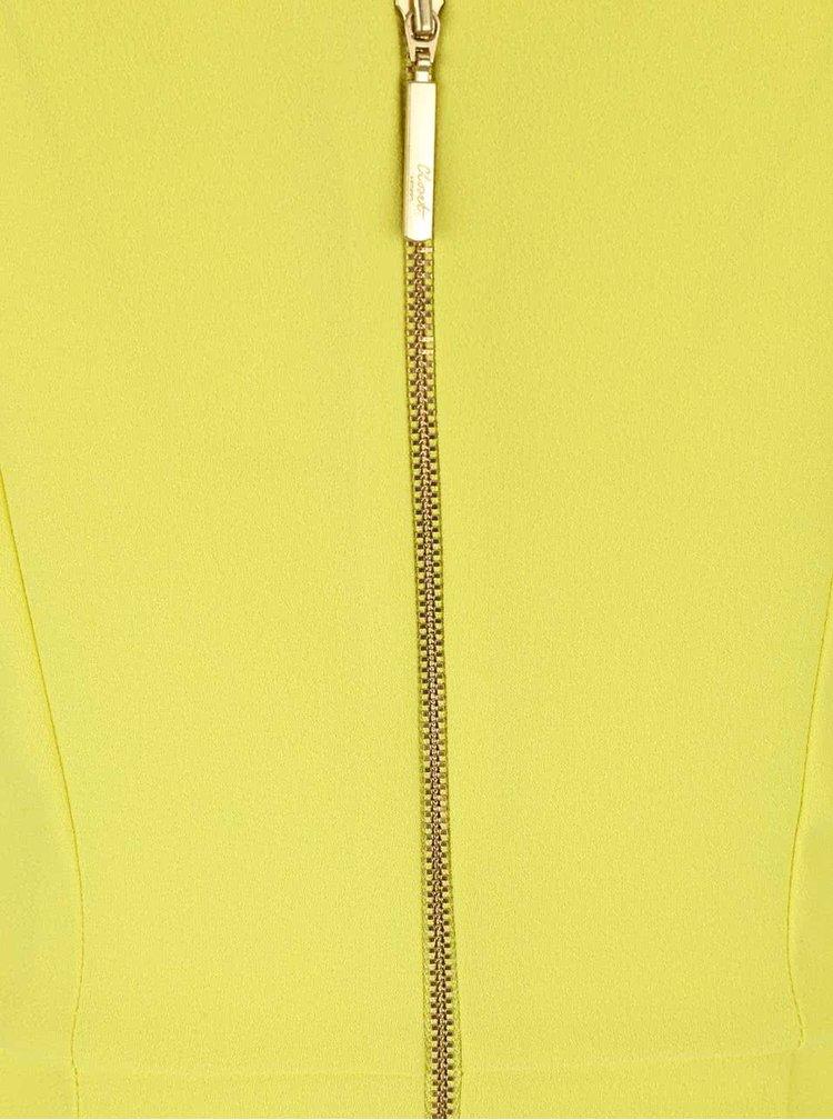 Žluté šaty se stojáčkem Closet