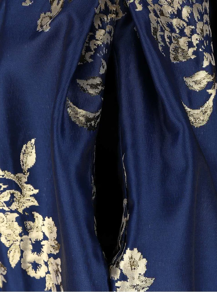 Bielo-modré šaty s kvetovanou sukňou Closet