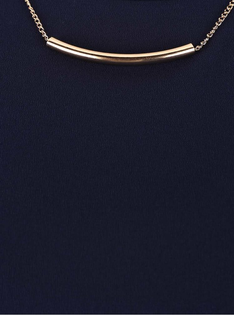 Tmavomodrá blúzka s odnímateľným náhrdelníkom Dorothy Perkins