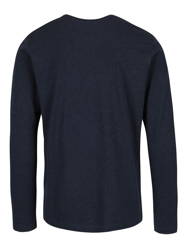 Tmavě modré triko s dlouhým rukávem !Solid Eldon