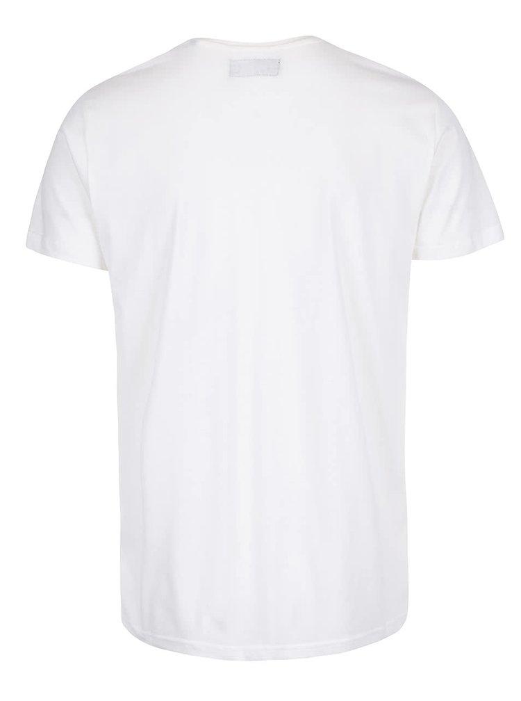 Krémové tričko s potlačou číslice !Solid Elif
