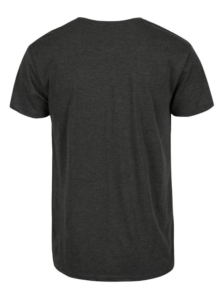 Sivozelené tričko s potlačou !Solid Deodat