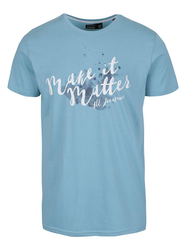 Svetlomodré tričko s potlačou !Solid Duha