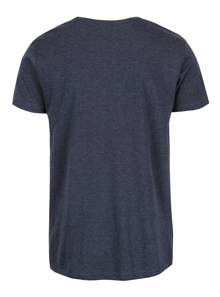 Modré žíhané triko s potiskem !Solid Derry