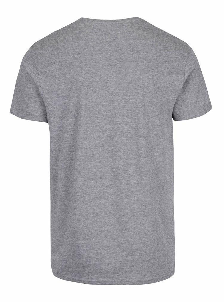 Sivé tričko s potlačou !Solid Duha