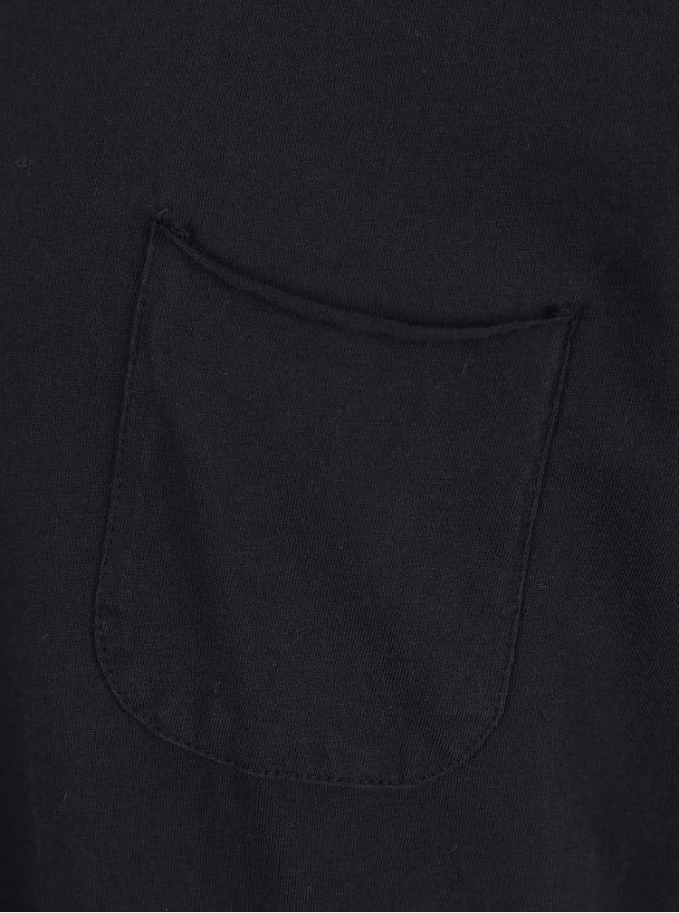 Černé triko s kapsou !Solid Sean
