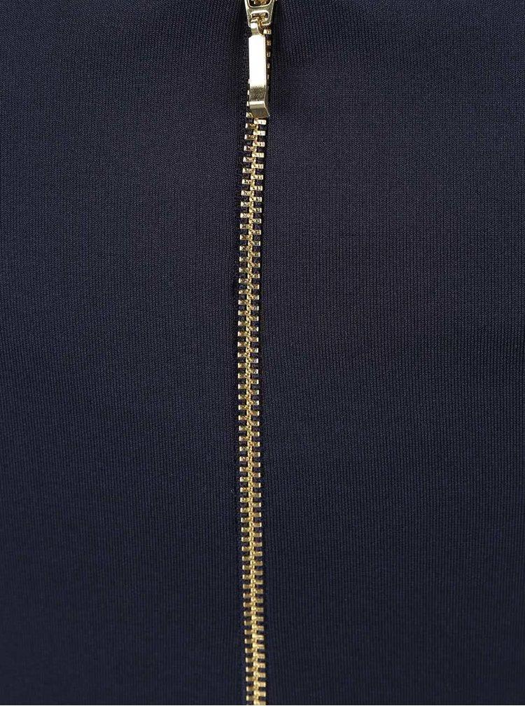 Tmavomodré šaty s ozdobnou čipkou Dorothy Perkins