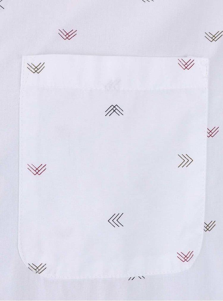 Cămașă albă ONLY & SONS Sasben cu imprimeu