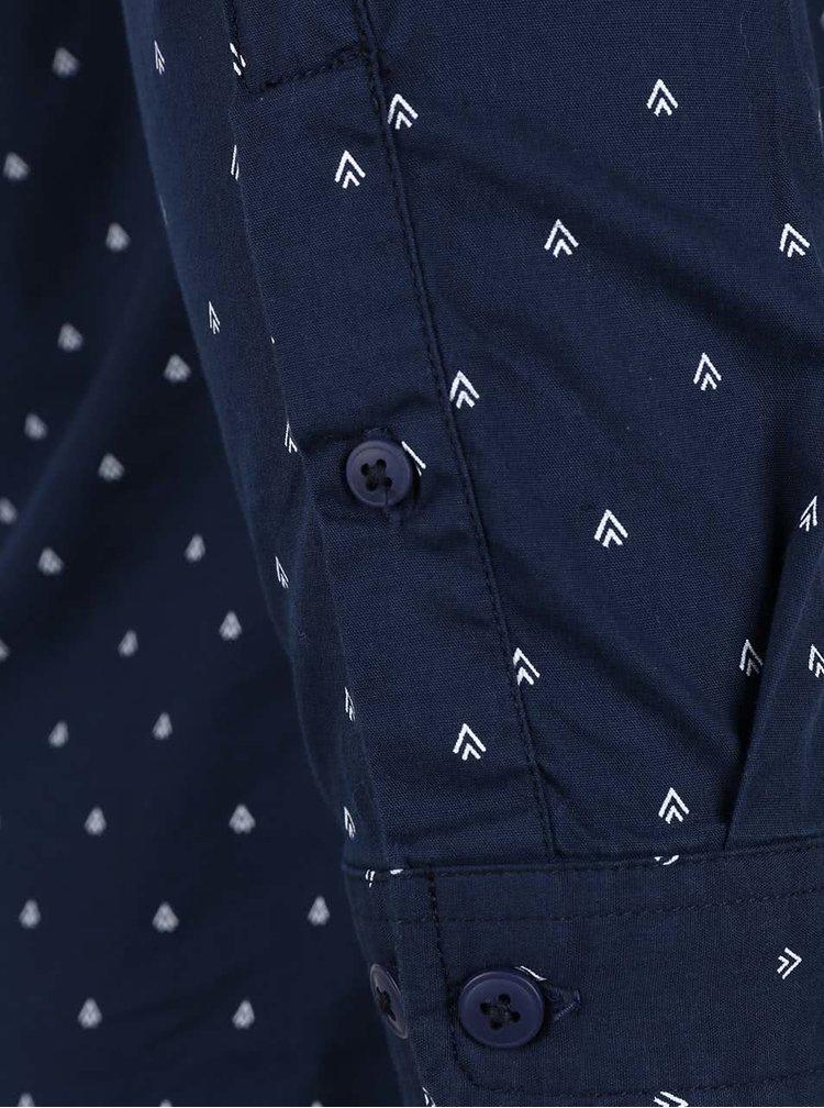 Tmavomodrá košeľa so vzorom ONLY & SONS Sasben