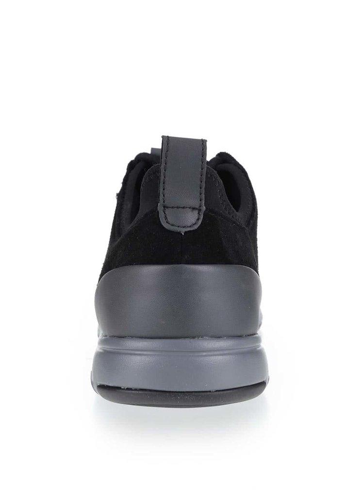Černé pánské kožené tenisky Geox Xunday