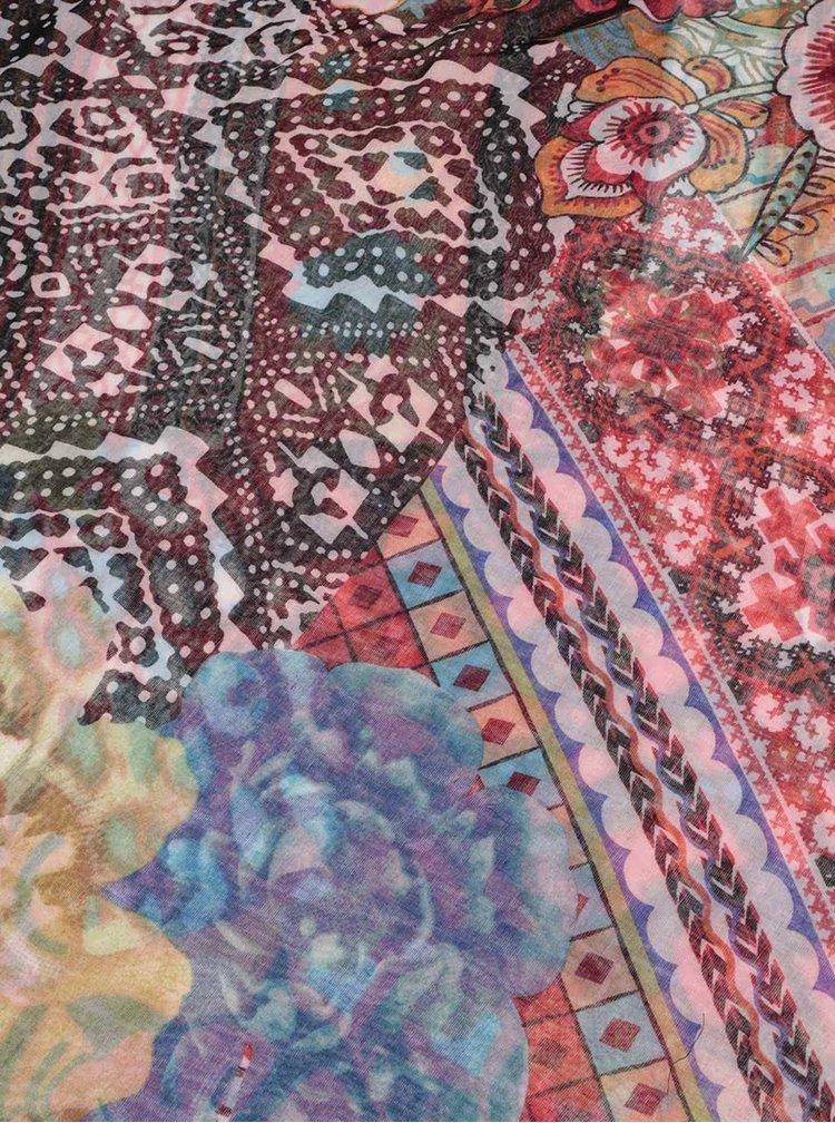 Barevný vzorovaný šátek Desigual Casilda