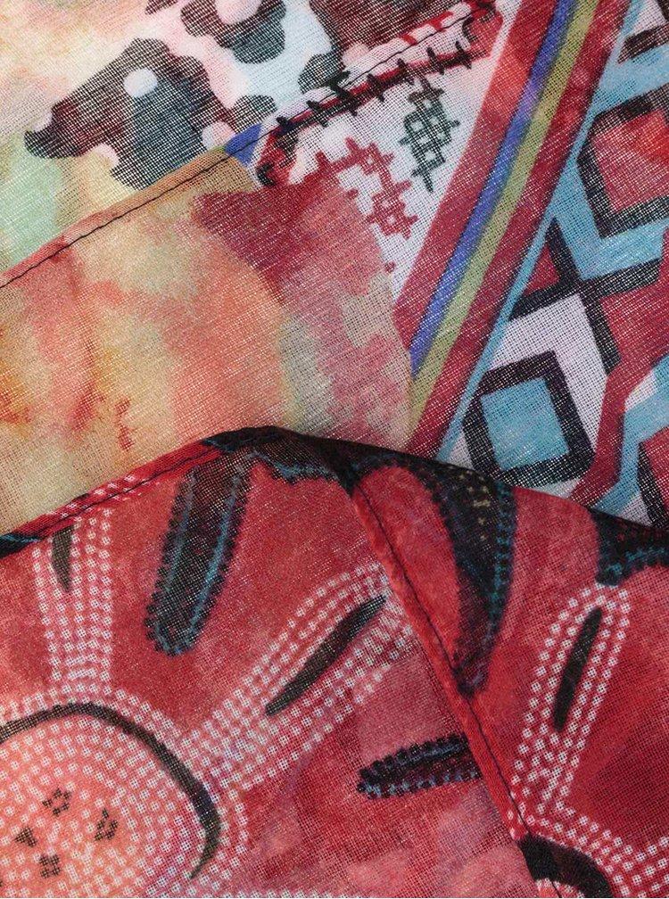Esarfa multicolora si semitransparenta Desigual Casilda