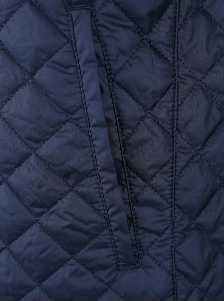 Tmavě modrá prošívaná bunda s kapsou ONLY & SONS Josep
