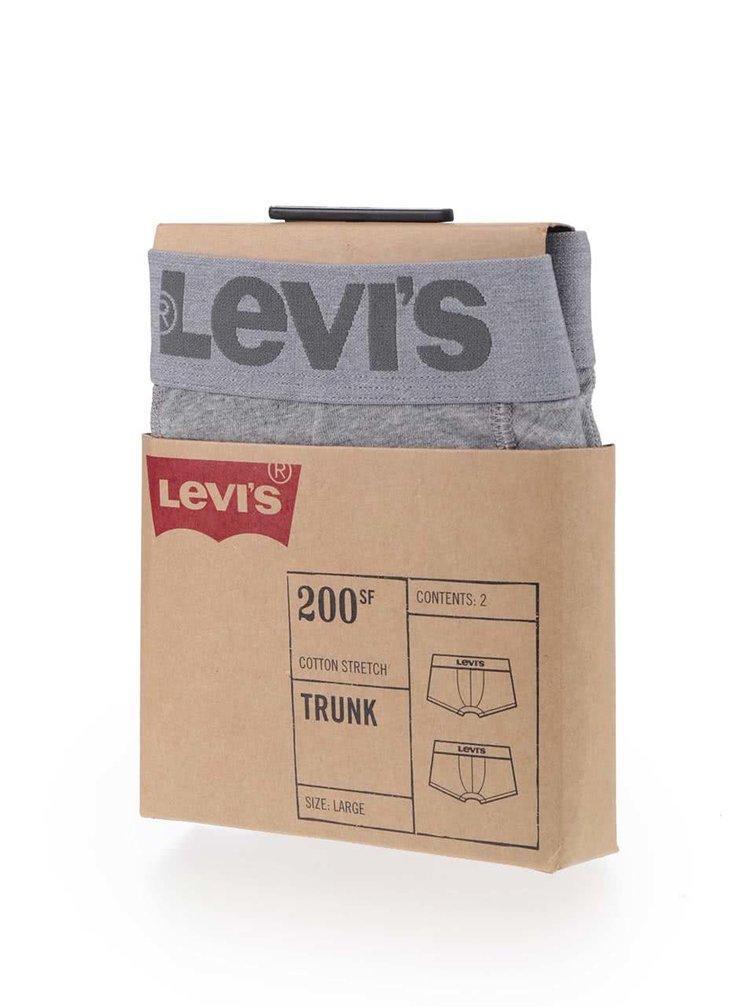 Sada dvou šedých boxerek Levi's