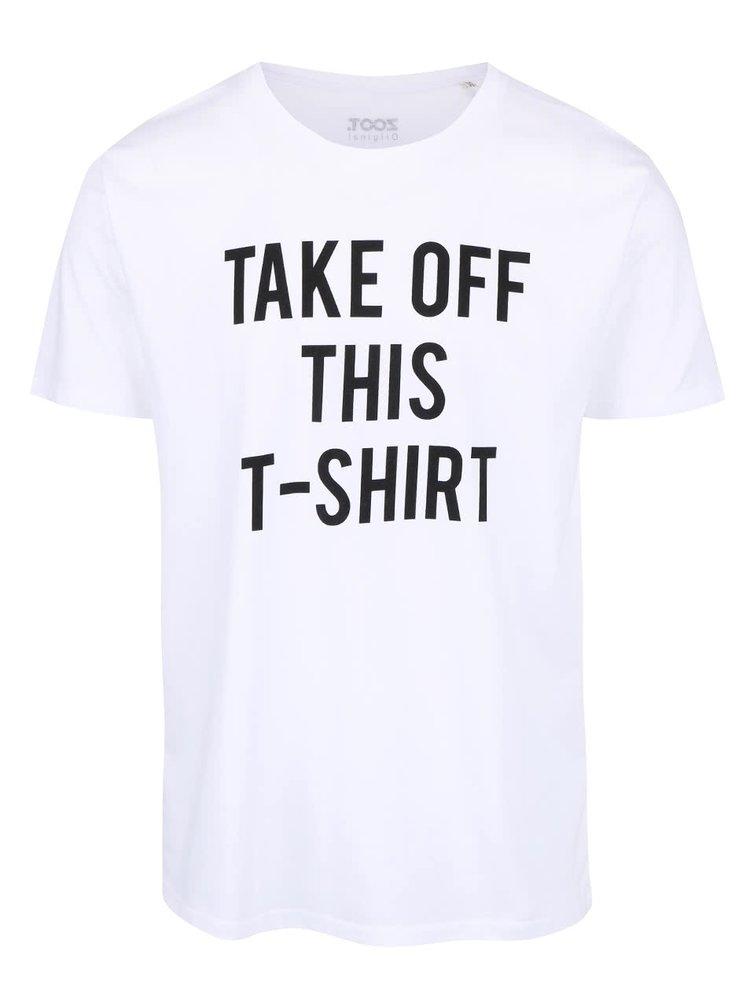 Tricou alb din bumbac organic ZOOT Take Off pentru barbati