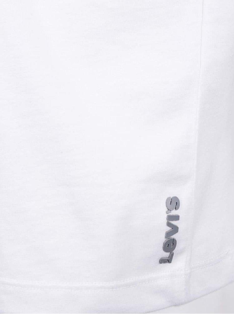 Sada dvou bílých pánských trik s véčkovým výstřihem Levi's®