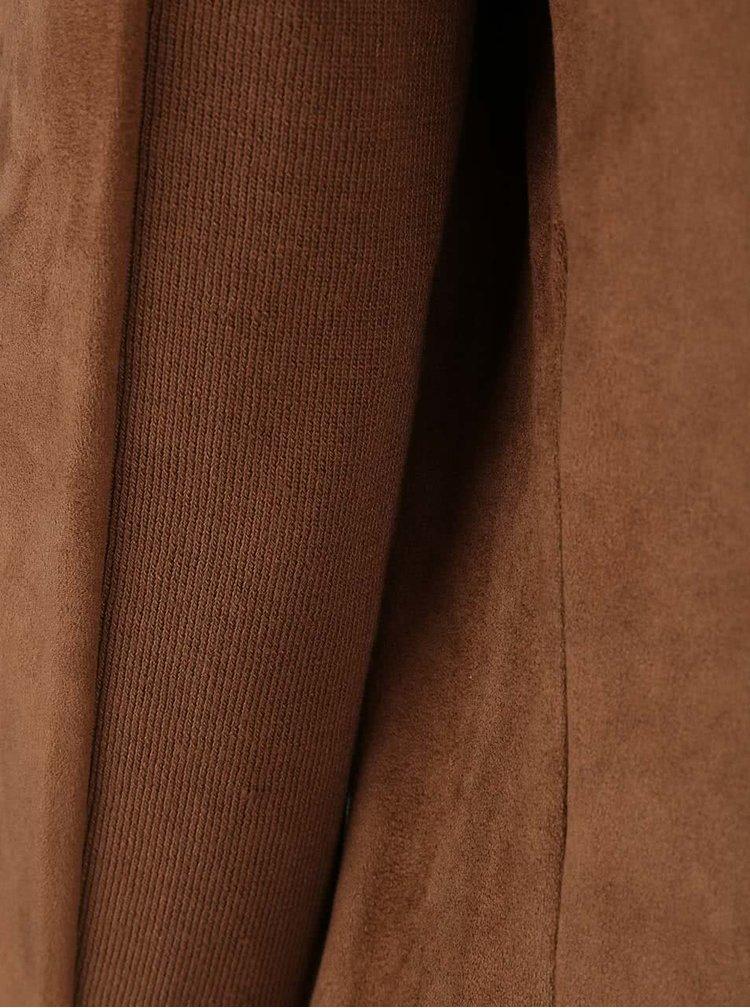 Světle hnědý blejzr s kapsami v semišové úpravě Dorothy Perkins