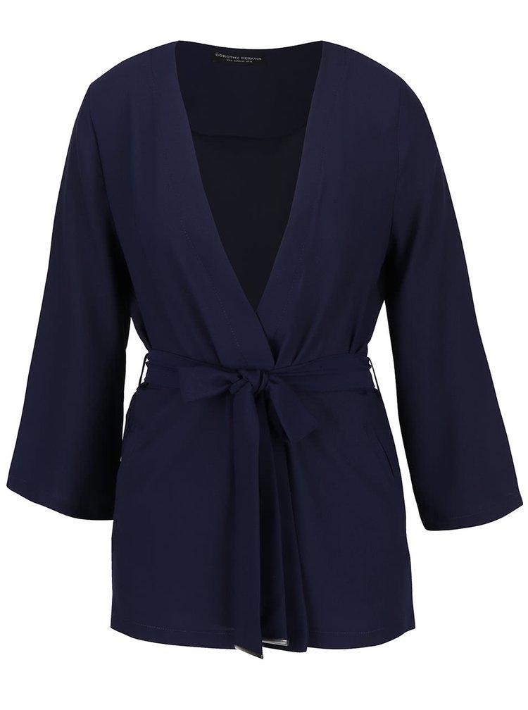 Tmavě modré zavinovací kimono Dorothy Perkins
