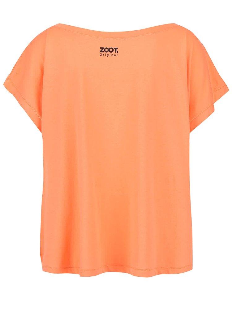 Tricou rosu corai din bumbac All Eyes On Me pentru femei
