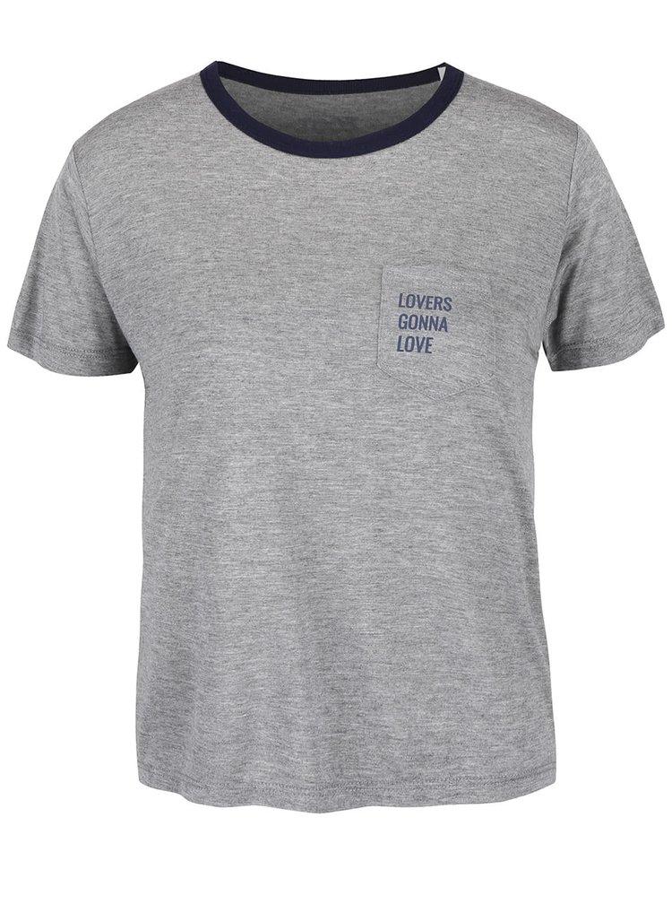 Šedé dámské tričko ZOOT Originál Lover Gonna Love
