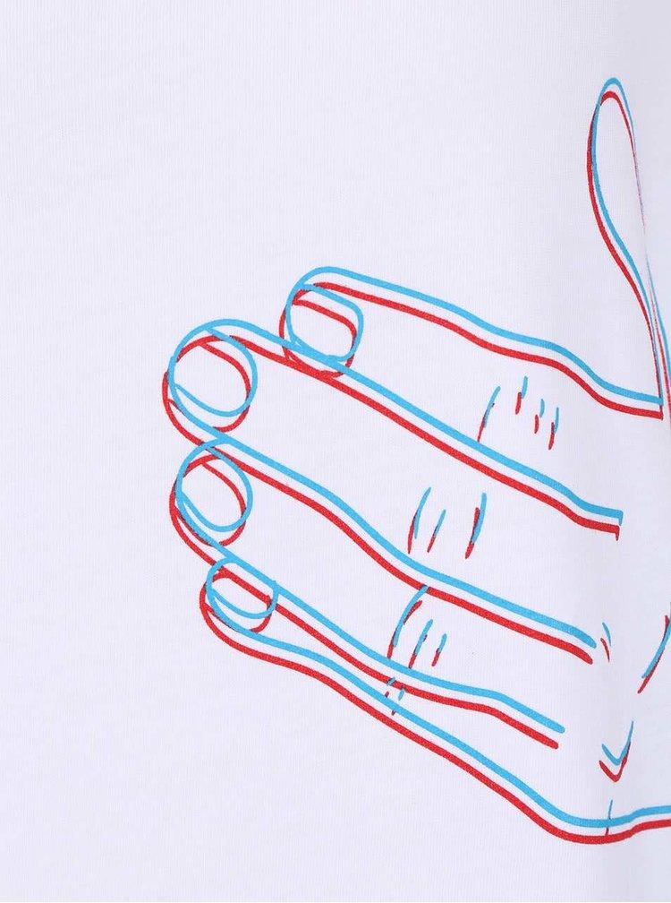 Bílé dámské oversize tričko ZOOT Originál Hands