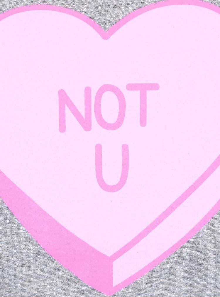 Tricou gri din bumbac organic ZOOT Original Not You pentru fete