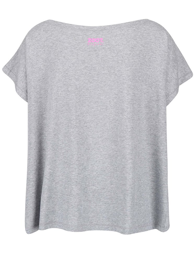 Sivé dámske oversize tričko ZOOT Originál Not You
