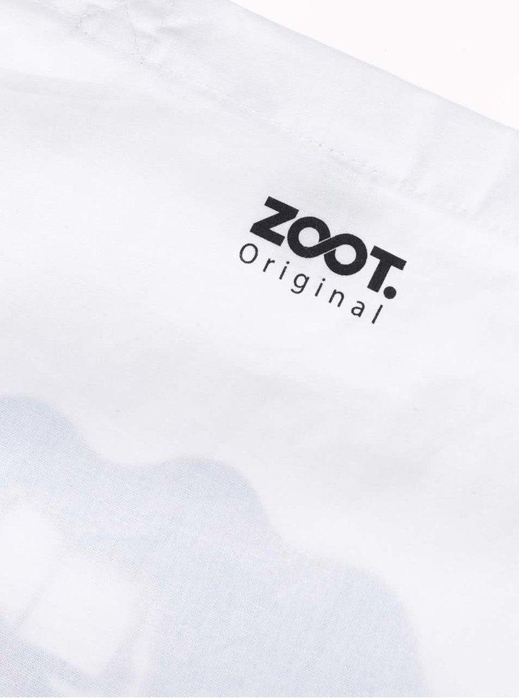 Geantă albă din pânză ZOOT Original cu print