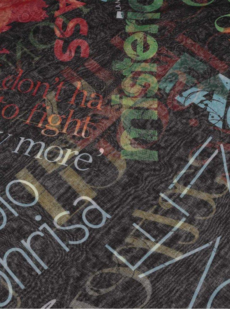 Eșarfă multicoloră Desigual Heritatge cu imprimeu
