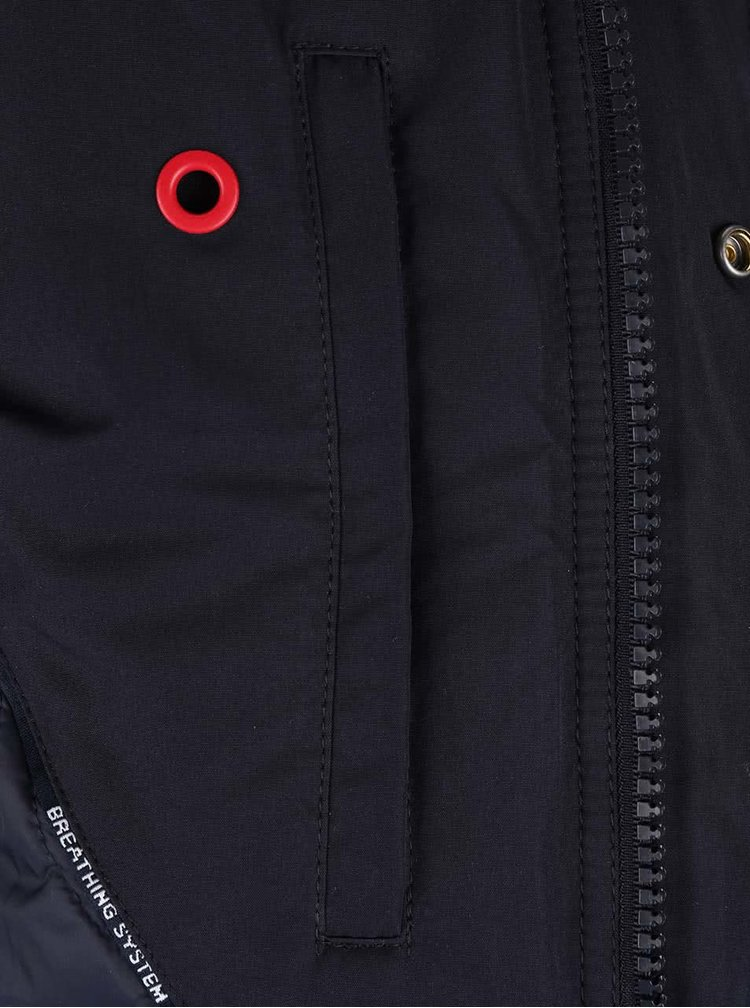 Tmavě modrá pánská funkční bunda Geox